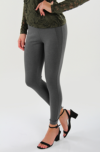 Vivalas Cropped Leggins Dark grey melange