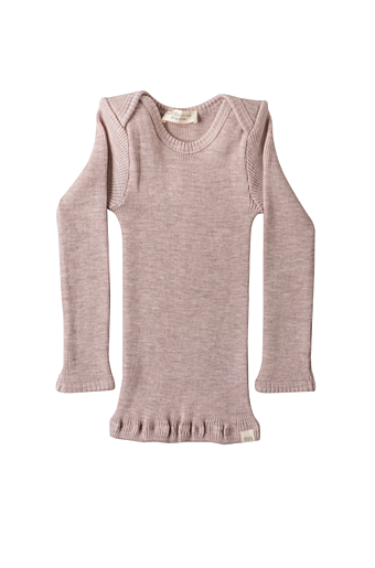 Aspen Uld Bluse Dusty Rose