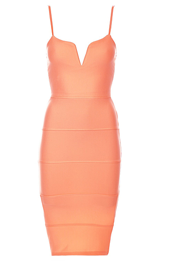 Dolly Bodycon Kjole Neon Orange