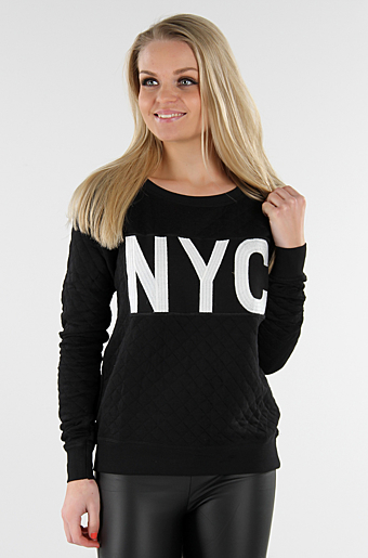 NYC Sweat Bluse Sort