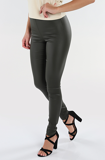 Vicommit Coated Leggings Forrest Night