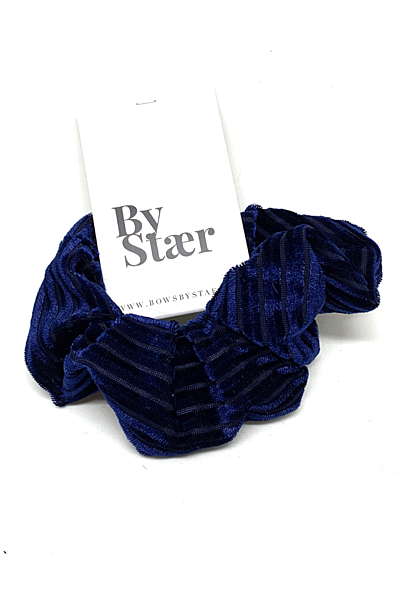 Scrunchies Velvet Stripe Navy