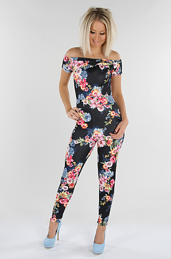 Zenia Floral Jumpsuit Sort