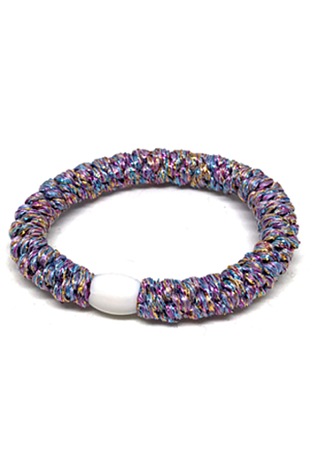 Braided Glitter Hairties Multi