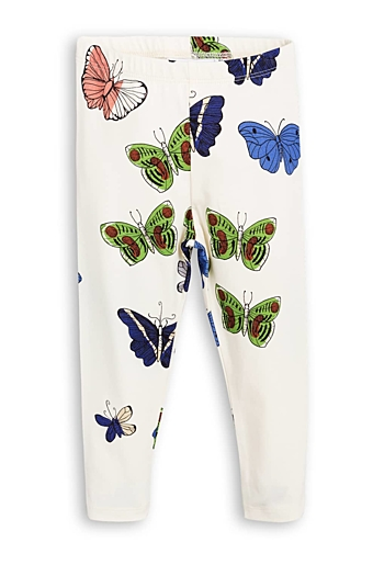Butterflies Leggings Offwhite