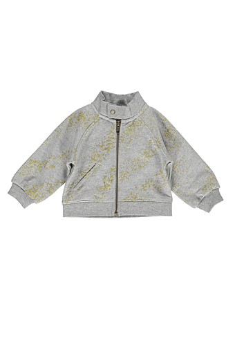 Tray Cardigan Gold Glitter Paint
