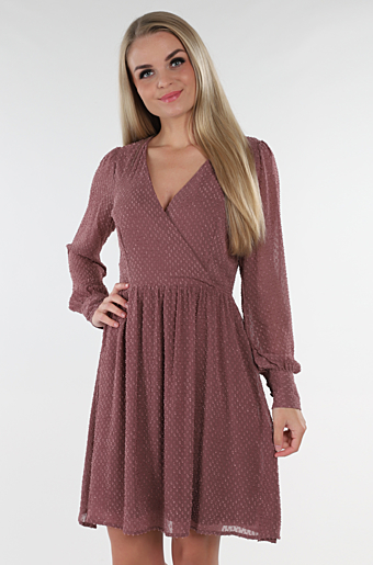 Visolly Wrap Kjole Rose Taupe
