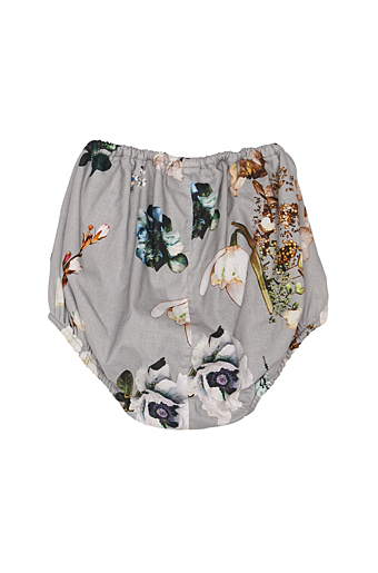 Grey Flower Baby Bloomers Grey Flower Cotton