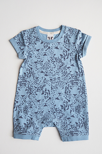Frans Playsuit Print Blue