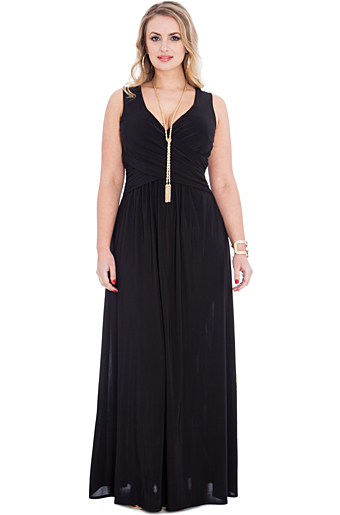 Christiane Plus Size Maxi Kjole Sort