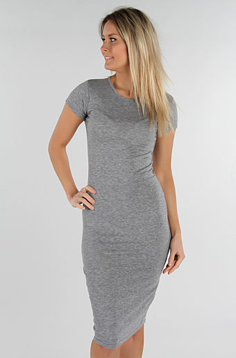 Basic Bodycon Kjole Grå