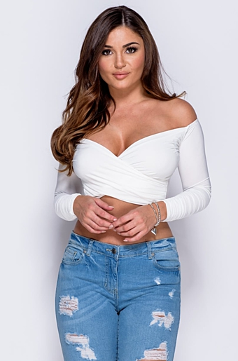 Genna Crop Top Creme