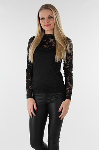 Vistasia Blonde Bluse Sort