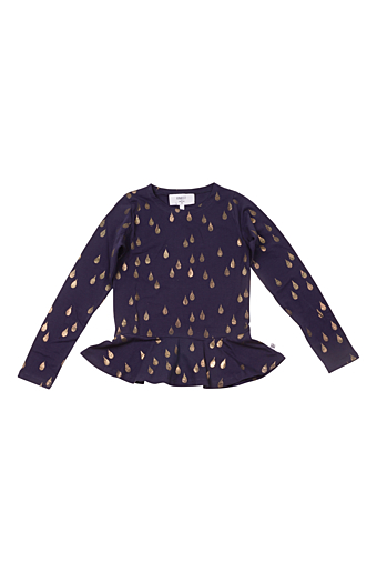 Golden drops Gry Bluse Navy