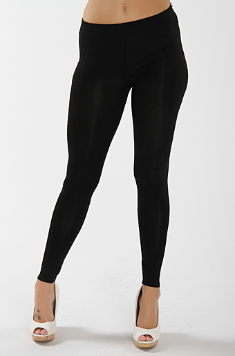 Plain Leggings Sort