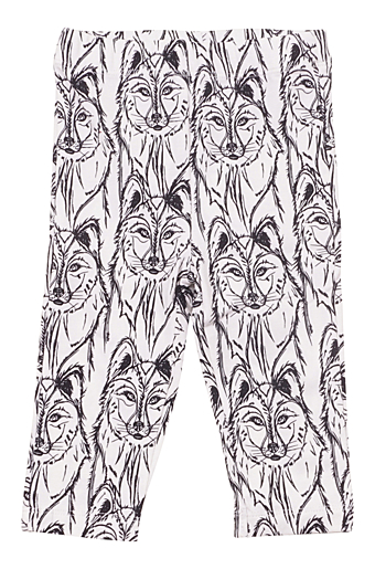 Wolf Baby Leggings Offwhite