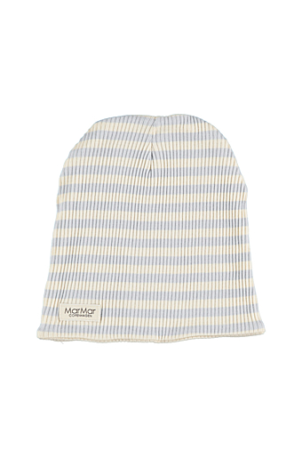 Stripe Beanie Pale blue/off white