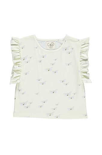 White Butterfly Britney Top Light Green