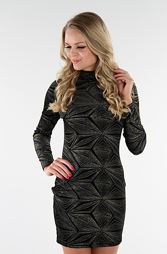 Adalyn Bodycon Kjole Sort