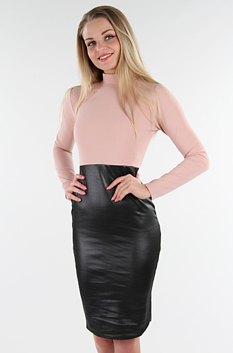 Ceylia Bodycon Kjole Rose