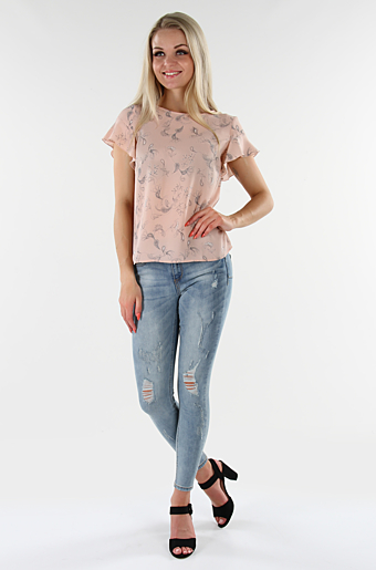 Vilucy Dustia T-shirt Rose Smoke
