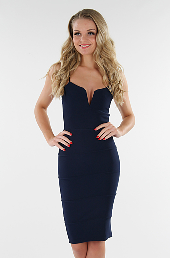 Dolly Bodycon Kjole Navy