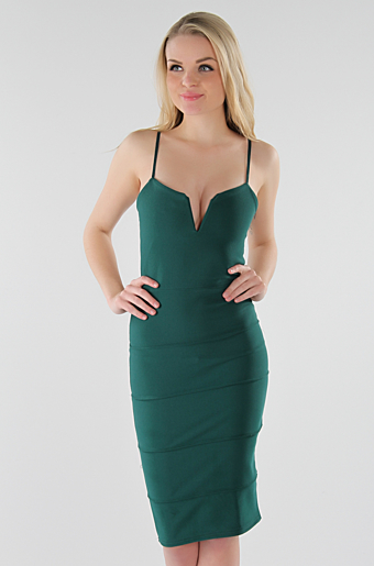 Dolly Bodycon Kjole Grøn