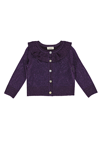 Tilda Lurex Cardigan Purple Night