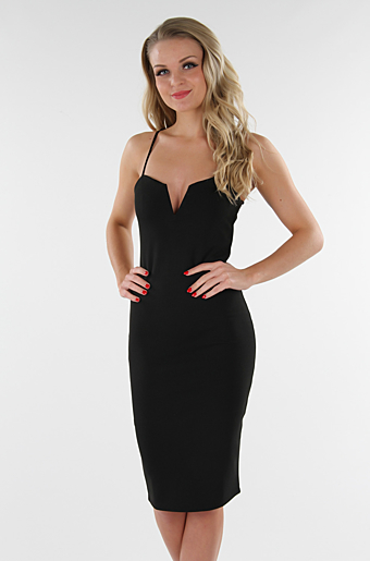 Dolly Bodycon Kjole Sort
