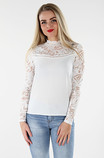 Vistasia Blonde Bluse Cloud dancer