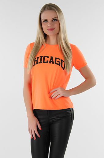 Chicargo T-shirt Neon Orange