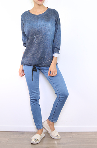 Ina Sweat Bluse Navy