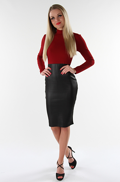 Ceylia Bodycon Kjole Wine