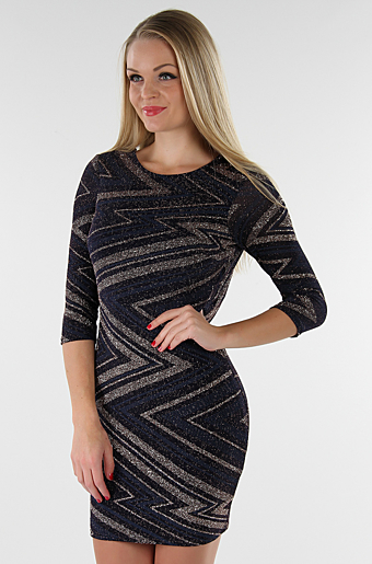 Janice Bodycon Kjole Sort
