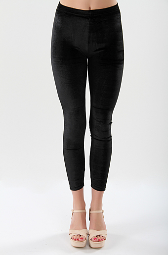 Velour Leggings Sort