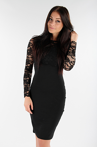 Marleen Bodycon Kjole Sort
