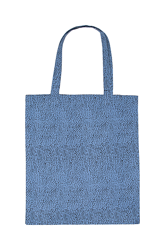 Aesthetic dots Shopper Blue shadow
