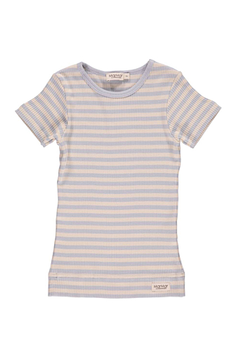 Stripe T-shirt SS Pale blue/off white