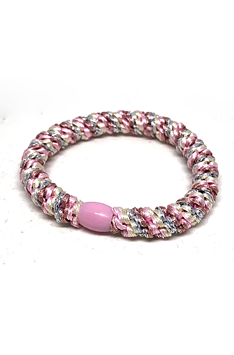 Braided Stribet Glitter Hairties Antique Rainbow