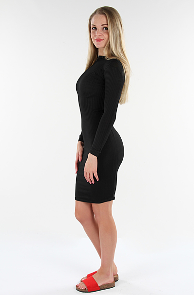 Hallie Bodycon Kjole Sort
