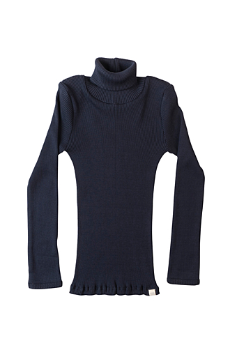 Bui Turtleneck Bluse Dark blue