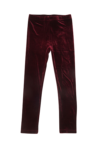 Gym Velvet Leggings Bordeaux