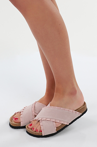 Duffy Flæse Slippers Light Pink
