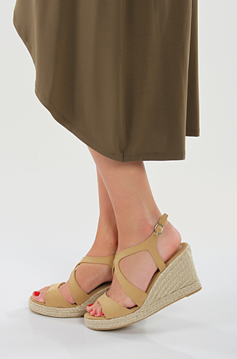 Lulu Wedges Beige