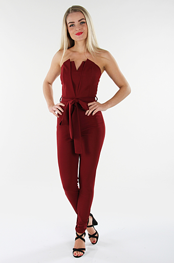 Jennifer Jumpsuit Wine