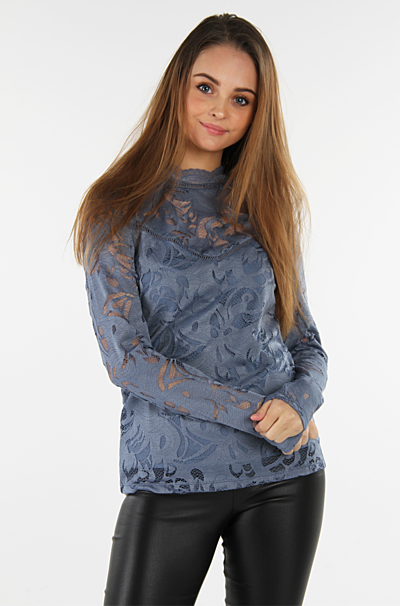 Vistasia Blonde Bluse China Blue