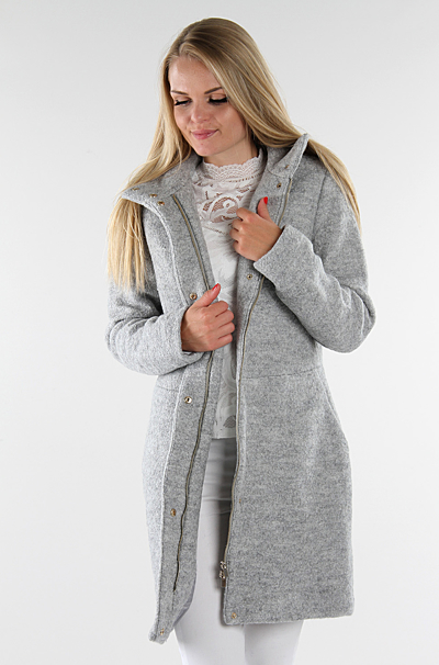 Vialanis Jakke Light Grey Melange
