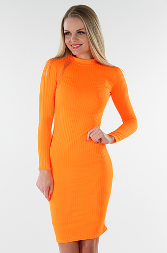 Hallie Bodycon Kjole Neon Orange