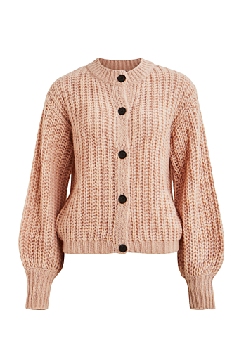 Viabra Strik Cardigan Rose Smoke