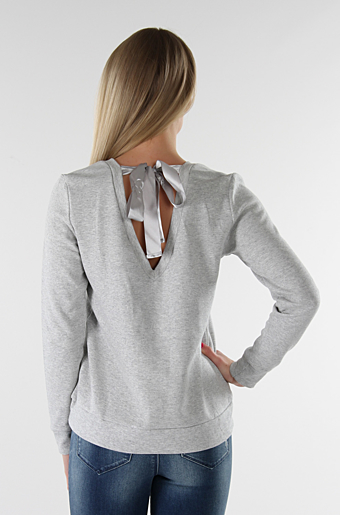 Vinolivia Bluse Light grey melange